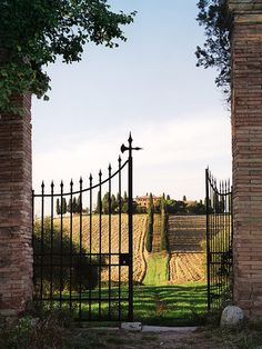Tuscan Gates - Tuscany, Italy just like the villa I stayed in for 2 weeks in Tuscany  SO miss this GORGEOUS GRANDIOSE place !!!