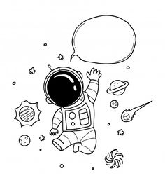 Astronaut Balloon Speech Discover thousands of Premium vectors available in AI and EPS formats Space Drawings, Art Drawings Sketches, Easy Drawings, Astronaut Cartoon, Astronaut Drawing, Space Doodles, Doodle Art Designs, Doodle Art Drawing, Coloring Pages