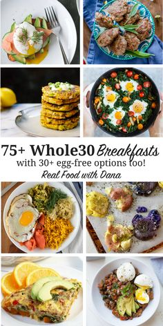 75+ Whole30 Breakfast Recipes {with 30+ egg free options too!}   Real Food with Dana