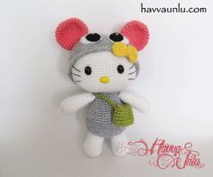 PATTERN  Kitty in Mouse Costume Amigurumi  Crochet by HavvaDesigns, $6.00