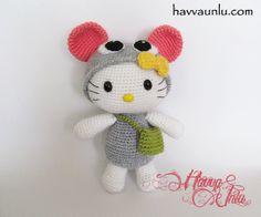 PATTERN  Kitty in Mouse Costume Amigurumi  Crochet by HavvaDesigns, $6.00