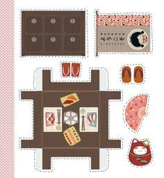 kokeshi book by annelor parot Paper Doll House, Paper Houses, Paper Games, Paper Toys, Paper Furniture, Paper Crafts Origami, Paper Models, Doll Crafts, Diy Arts And Crafts