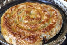 Savory Moroccan M'hancha with Chicken, Cheese and Veggie Filling: Savory M'hancha - Moroccan Serpent Pastry