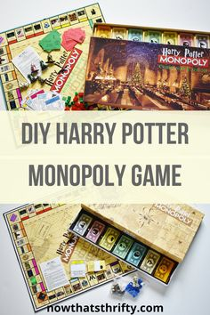 Create this DIY Harry Potter Monopoly Game with free printables. This game is easy to make with step by step instructions and downloads. Make your own diy game with our free templates. #harrypotterforever #diyproject #harrypotter #diyharrypotter #harrypotterparty