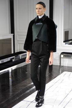 Balenciaga RTW Fall 2013 - Slideshow green as vest