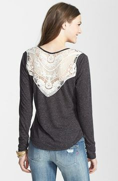 Liberty Love Crochet Back Henley (Juniors) available at #Nordstrom