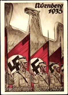 Künstler Ansichtskarte / Postkarte Mjölnir, Nürnberg, Reichsparteitag der NSDAP 1935