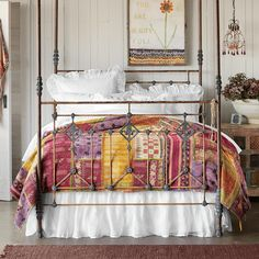 New Arrivals - Home Furniture & Decor Tuscan Style Bedrooms, White Bedding, Cotton Quilts, Home Collections, Decoration, Bed Frame, Furniture Decor, New Homes, Interior Design