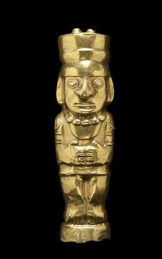Gold Human Effigy Figure  --  600 CE  --  Peru