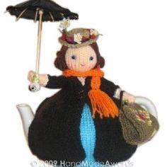 ❇Crochet Tea Cosies,  Coffee and Tea Cup and Mug Snugs and Hugs   Mary Poppins tea cosy