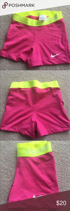 Nike pro spandex Brand new pink Nike spandex, in perfect condition and never worn before, perfect for any workout Nike Shorts