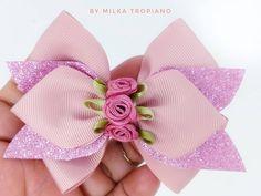 How To Make Ribbon, Diy Ribbon, Ribbon Hair, Ribbon Crafts, Ribbon Bows, Handmade Hair Bows, Diy Hair Bows, Baby Bows, Baby Headbands