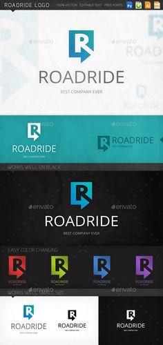 Roadride Letter R Arrow Logo Template — Photoshop PSD #logo design with letter r #logo of letter r • Available here → https://graphicriver.net/item/roadride-letter-r-arrow-logo-template/8977733?ref=pxcr