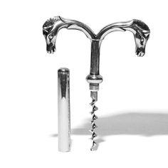 HERMES - Silver Double Horse Head Corkscrew - MAN of the WORLD Online Destination for Men's Lifestyle - 5