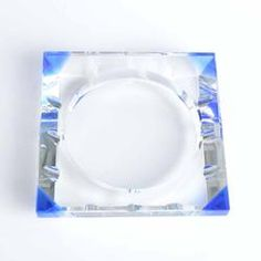 Square Cut Crystal Ashtray