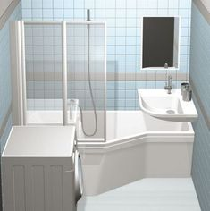 The Secret Of Tiny House Bathroom Designs And Decorating Ideas No One Is Discussing 49 - findmynewhomes Wet Room Bathroom, Space Saving Bathroom, Tiny House Bathroom, Downstairs Bathroom, Bathroom Renos, Laundry In Bathroom, Bathroom Niche, Small Bathroom, Home Room Design