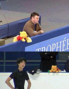 I just can't get enough of Yuzuru Hanyu's Pooh! He's definitely an ardent supporter! So cute!!!! I really need one like it!!!