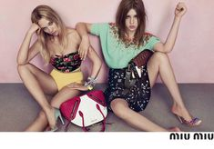 Miu Miu Resort Campaign 2014 starring Lèa Seydoux and Adèle Exarchopoulos   Image 1