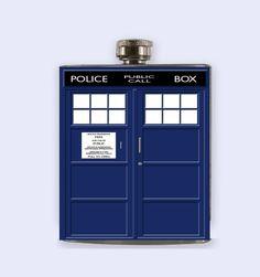 Tardis Tardis Flask Doctor Who Tardis Personalized by RKGrace, $19.98