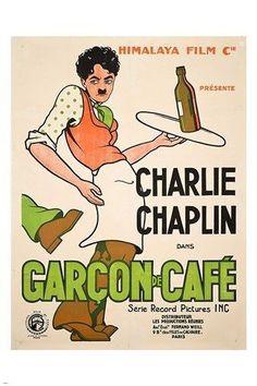 CHARLIE CHAPLIN in the GARCON DE CAFE movie poster COLLECTORS COMEDY 24X36