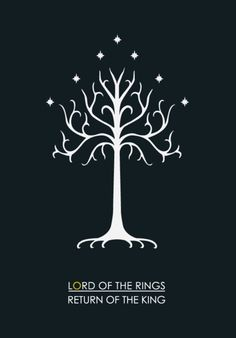 The Return of the King, minimalist poster. Definitely my favorite book of the series.