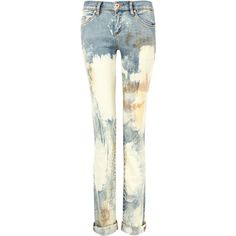 Blank NYC Bleached Skinny Jeans ($73) ❤ liked on Polyvore