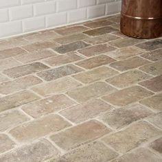 Antique Briquette Flooring: Entry way and maybe cool for in the laundry room - Bodenbelag Modern Flooring, Brick Flooring, Floors, Brick Pavers, Bathroom Flooring, Kitchen Flooring, Brick Bathroom, Ceramic Flooring, Bathroom Inspiration