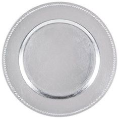Feature - Up your Dinner Game with these Luxurious Plate Beaded Charger that go under your plates for that extra touch! - Comes in Set of 1246 ...  sc 1 st  Pinterest & Bulk Silver Plastic Charger Plates with Beaded Rims 13 in. at ...