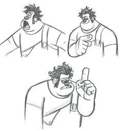 Enjoy a gallery of Original Concept Art, Character Design & Color Scripts for Disney movie Wreck-It Ralph. Animation 3d, Walt Disney Animation Studios, Animation Reference, Character Design Animation, Character Design References, Art Reference, Anatomy Reference, Character Ideas, Character Concept