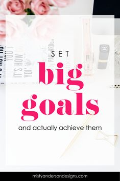 Wondering how you can set goal for your business and actually achieve them? Follow my simple step to set BIG goal and actually know the steps you need to take to reach them. goal setting | business goals | business productivity | goals | productivity tips | goal setting tips