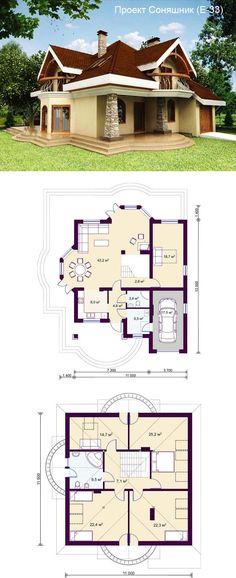 Проект под дом Villa, Apartment Design, House Plans, Sweet Home, Floor Plans, Cottage, House Design, Cabin, Entertaining
