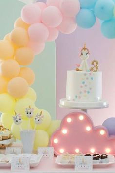 Take a look at this wonderful unicorn birthday party! The unicorn cake is so pretty! See more party ideas and share yours at CatchMyParty.com  #catchmyparty #partyideas #unicornparty #unicorns #girlbirthdayparty #cake Birthday Cake Pops, Girls Birthday Party Themes, Unicorn Birthday Parties, Unicorn Party, Girl Birthday, Wedding Cake Pops, Wedding Cakes, Baby Shower Cake Pops, Bridal Shower Cakes