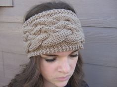 Tan Cable Knit Headband.. want!!
