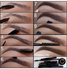 How to define #eyebrows tutorial