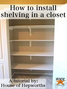 shelves in closet