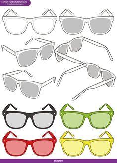 28beaedc0d Sunglasses Fashion Flat Sketche vector template Vectores Gratis, Plantilla  De Cuerpo, Bailarinas De Moda