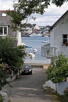 The harbour at Sainte Marine, Brittany, France