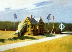 Edward Hopper RR crossing 1922