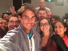Rafael Nadal selfie with the Nike Tennis Team