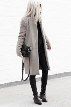 simple grey coat