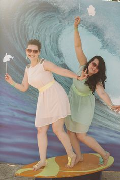 Surf PhotoBooth #backdrop На волне любви: свадьба Вероники и Олега weddywood.ru