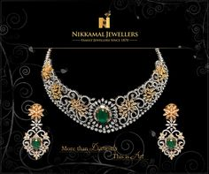 More than diamonds this is art !! Flaunt your style Visit us at Nikkamal Jewellers Ludhiana & Jalandhar Showrooms for more designs.