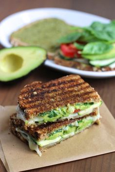 Zucchini and avocado grilled cheese. Get this and 12 more amazing grilled avocado recipes here. Gourmet Recipes, Vegetarian Recipes, Cooking Recipes, Healthy Recipes, Avocado Dishes, Grilled Cheese Avocado, Grilled Cheeses, Sandwich Bar, Sandwich Recipes