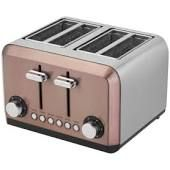 Kitchen Master Four Slice Toaster - Antique Copper