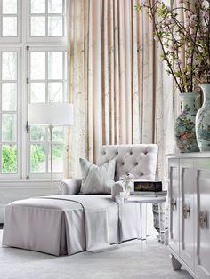 Possible chaise lounge in corner ooposite piano with floor lamp and small side table   Tempo da Delicadeza