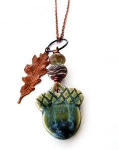 Forest in an Acorn Pendant | Humblebeads Jewelry