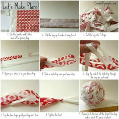 A great way to Reuse plastic grocery bags?  Make plarn!  And you can use the plarn to crochet or knit a reusable shopping bag.