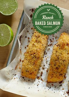 Baked salmon is always a treat, and now there's a new way to dress it up with Cilantro Lime Ranch dressing. A little creamy, a little tangy, this dish will leave your taste buds and tummy happy.
