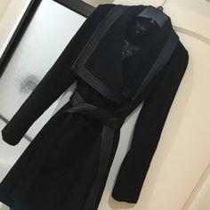 Jessica Simpson Pea Coat Leather details, size xs, black. NWOT Jessica Simpson Jackets & Coats Pea Coats