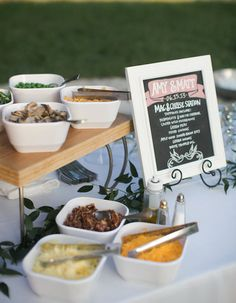 Host a mac and cheese bar station at your wedding reception and you'll become the coolest bride around!